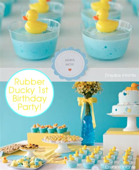 1st birthday kara 39 s party ideas rubber ducky yellow blue 1st birthday party via kara 39 s