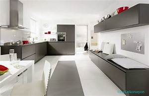 gri mutfak dolabi ev dekorasyonu With kitchen colors with white cabinets with twin nursery wall art