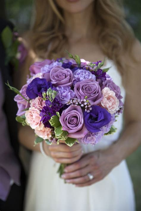 10 Ideas About Purple Wedding Bouquets On Pinterest