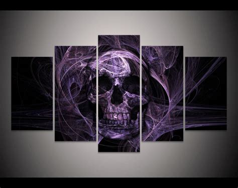 print horror skull painting halloween home decor wall art