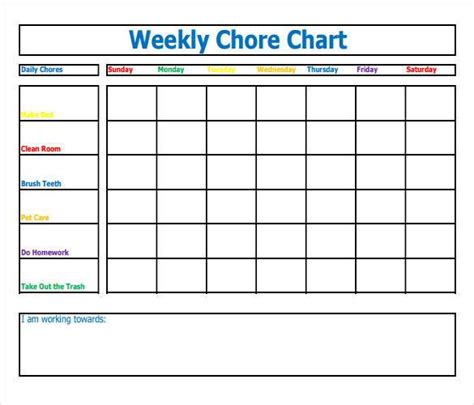 Chore List Template For How To Make Schedule Using 5 Chore List Template Types