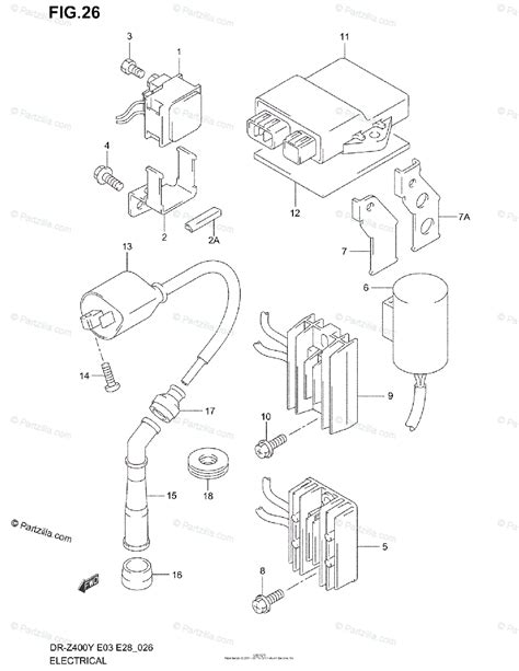 Suzuki Motorcycle Oem Parts Diagram For Electrical
