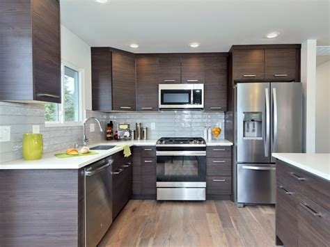 mocha wood grain flat panel pius kitchen bath