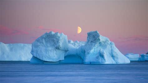 moon   iceberg hd wallpaper wallpaper studio