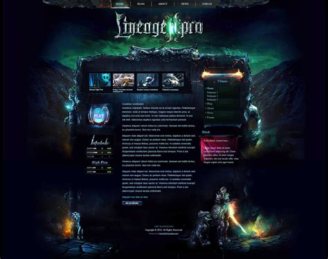 website templates fantasy mystic game website template fantasy web templates