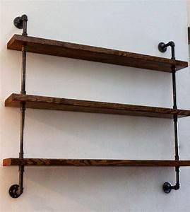 Wood Shelving Unit, Wall Shelf, Industrial Shelves, Rustic