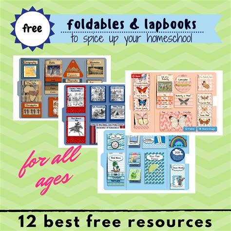 foldables lapbooks printables  homeschooling