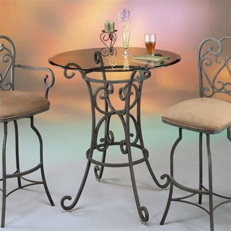 36 round glass table top magnolia 36 quot round glass top dining table in autumn rust