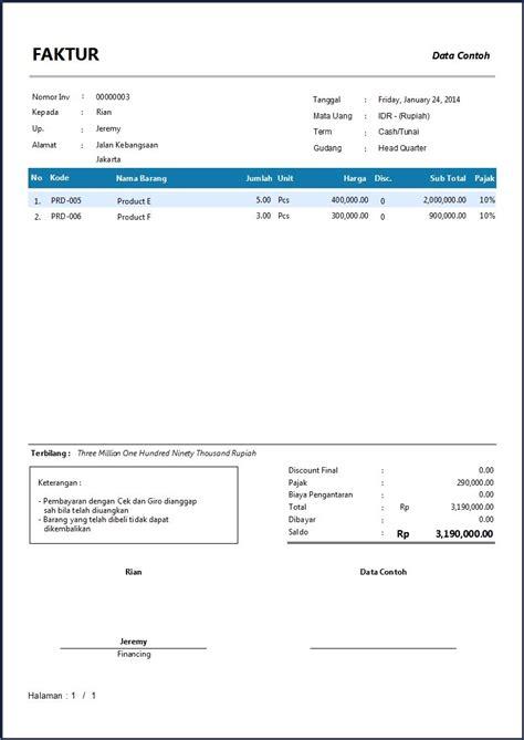 Contoh Invoice Jasa by Contoh Invoice Pengertian Invoice Invoice Adalah Sebuah
