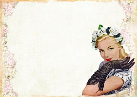 free illustration vintage lady fashion gloves free