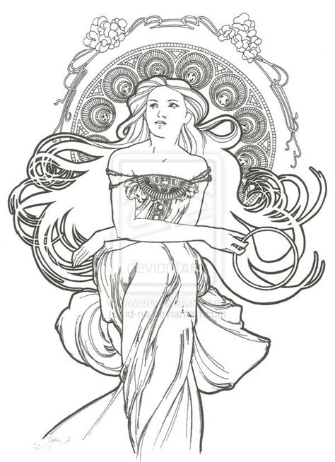 art nouveau style ls art nouveau style 5 by id na on deviantart drawing