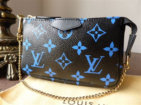louis vuitton mini pochette  black  blue monogram sold