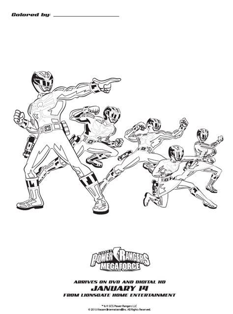 dessins de coloriage power rangers  imprimer sur