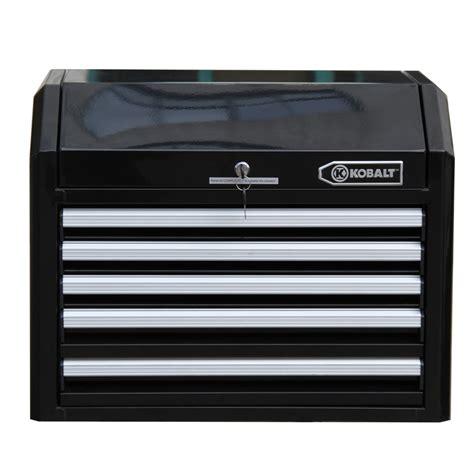 Kobalt Storage Cabinet Casters by Kobalt 5 Drawer Heavy Duty Bearing Steel Tool Box