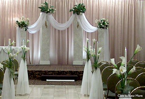 draping flowers for weddings wedding ceremony decor not the pink but the white draping