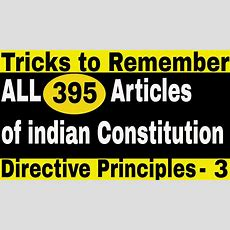 Tricks To Remember Complete Articles Of Indian Constitution  Directive Principles  Part 3