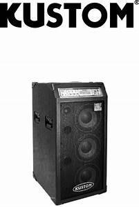 Kustom Stereo Amplifier Groove 310c User Guide