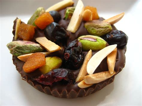 fruit and nut chocolate dessert