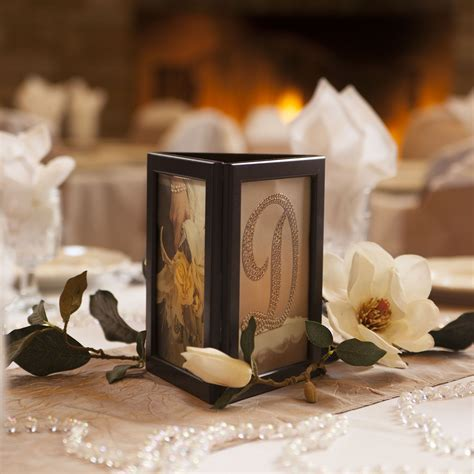 picture frames for wedding tables picture frame candle centerpiece photo glo fully assembled