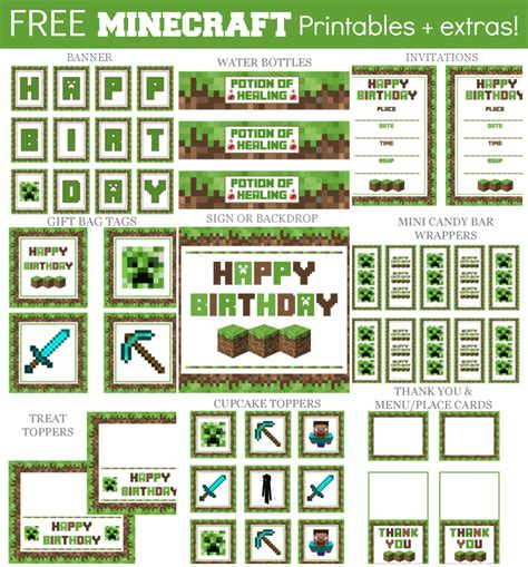 minecraft cuisine imgs for gt minecraft food printables