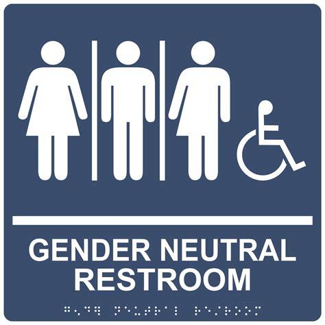 Gender Neutral Bathroom Signs by Ada Gender Neutral Restroom Sign Rre 25443 99 Whtonnavy