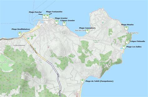 Carte Tropez by Plages De Tropez Informations Les Plus Belles