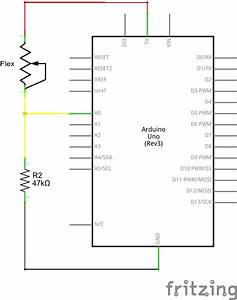 flex sensor hookup guide learnsparkfuncom With the example circuit