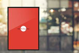 Free Outdoor Vertical Poster MockUp
