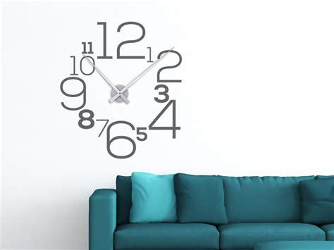 Große Uhr Wand by Wandtattoo Uhr Kreative Zahlen Wandtattoo
