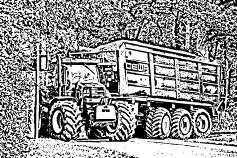Kleurplaat Tractor Met Ploeg by Kleurplaat Trekker Met Ploeg Kleurplaten Tekeningen