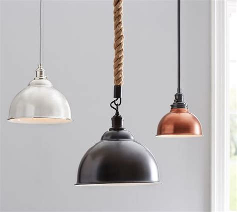 pb classic pendant metal bell pottery barn