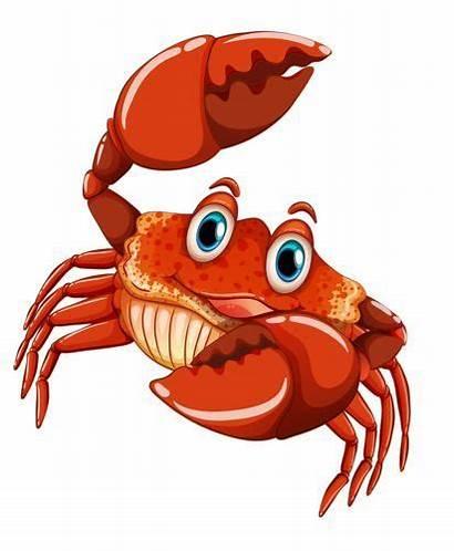 Cartoon Animals Clipart Crab Sea Fish Ocean