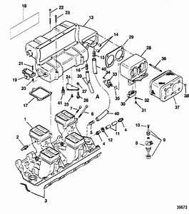 Intake Manifold  U0026 Intake Plenum For Mercruiser  454  U0026 502 Mag Efi