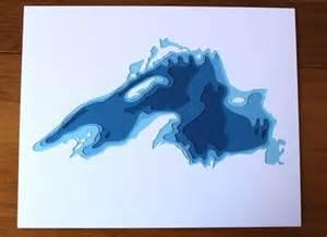 Lake Superior Depth Contour Map