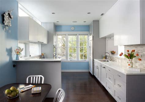 light blue kitchen ideas 现代简约半开放式厨房装修效果图 土巴兔装修效果图 6963
