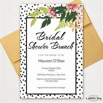 Polka Dot Shower Bridal Invitation