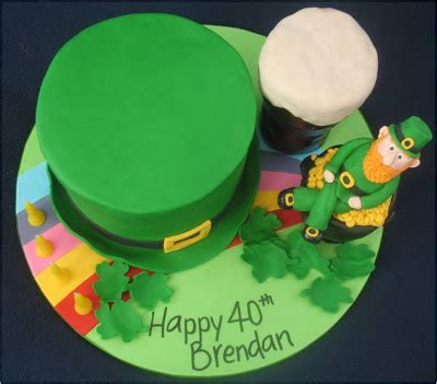 blissfully sweet  irish themed  birthday cake