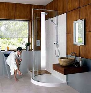 Matki original walk in curved corner shower enclosure uk for Shower cubicles for small bathrooms uk