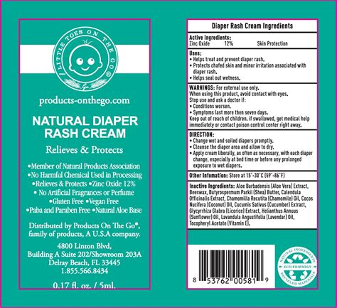 Natural Diaper Rash Cream Products On The Go Llc