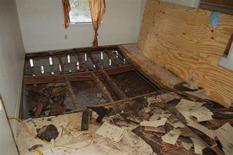 Repair Bathroom Floor by Before Wood Frame Homes Do Suffer From Subfloor