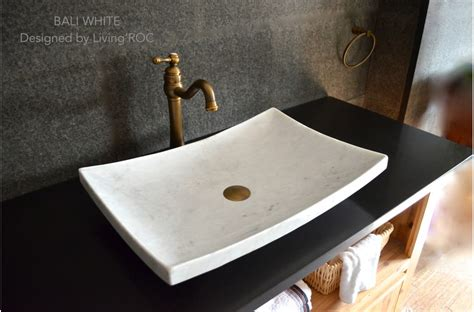 white marble sink 24 quot white marble vessel sink natural stone bali white