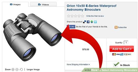 how to select astronomy binoculars 4 steps with pictures