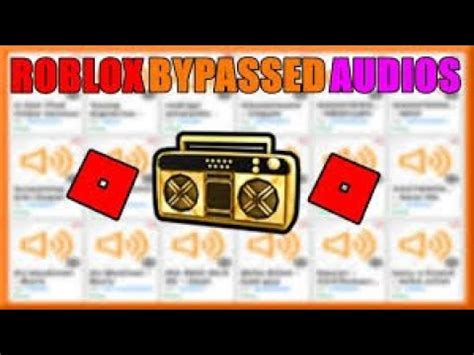 roblox bypassed audios  read description