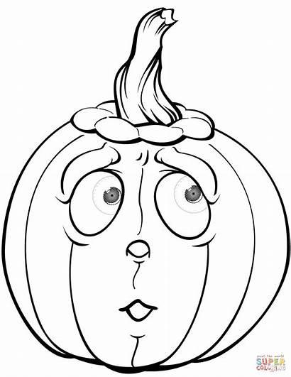 Pumpkin Coloring Pages Halloween Scared Pumpkins Printable