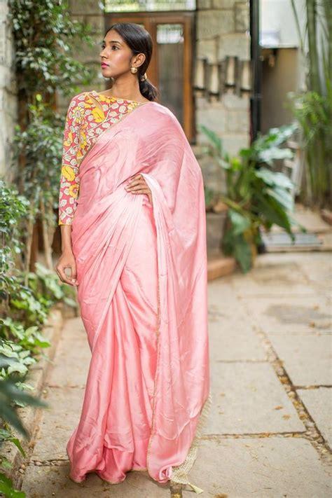 plain saree with designer blouse blouse designs for plain saree top blouse designs