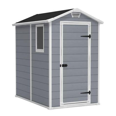 keter shelves for sheds keter manor 4 ft x 6 ft outdoor storage shed 212917
