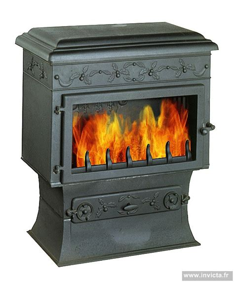 poele a bois invicta chaumont cast iron stove