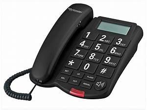Simvalley communications grosstasten telefon xlf 40 schwarz for Telefongespr che aufzeichnen festnetz