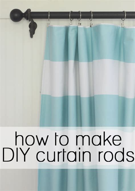 how to make your own diy curtain rods the window source