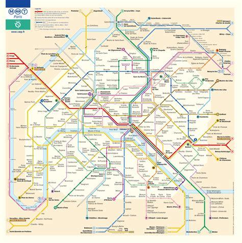 Carte Metro Rer by Plan Metro Rer